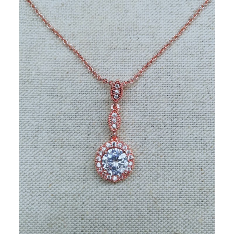 Collier zircon rose gold