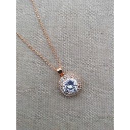 collier cristal strass zircon or mariage