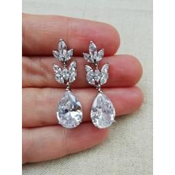 Boucles d'oreilles cristal zircon mariage
