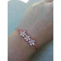 Bracelet mariée rose gold , bracelet mariage strass , bracelet mariage zircon